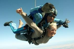Woman skydiving (#1)