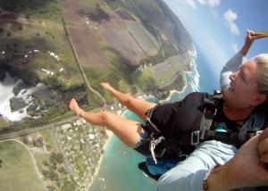 Woman skydiving (#2)