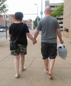 BF - Walking - Man woman