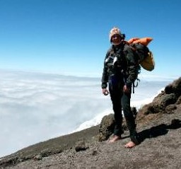 BARFOOT1.jpg Sonnet Baker, of Boulder, climbed Africa's Mount Kilimanjaro barefoot in 2011. Used with permission from Baker.